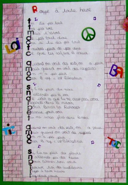 poesie 6e