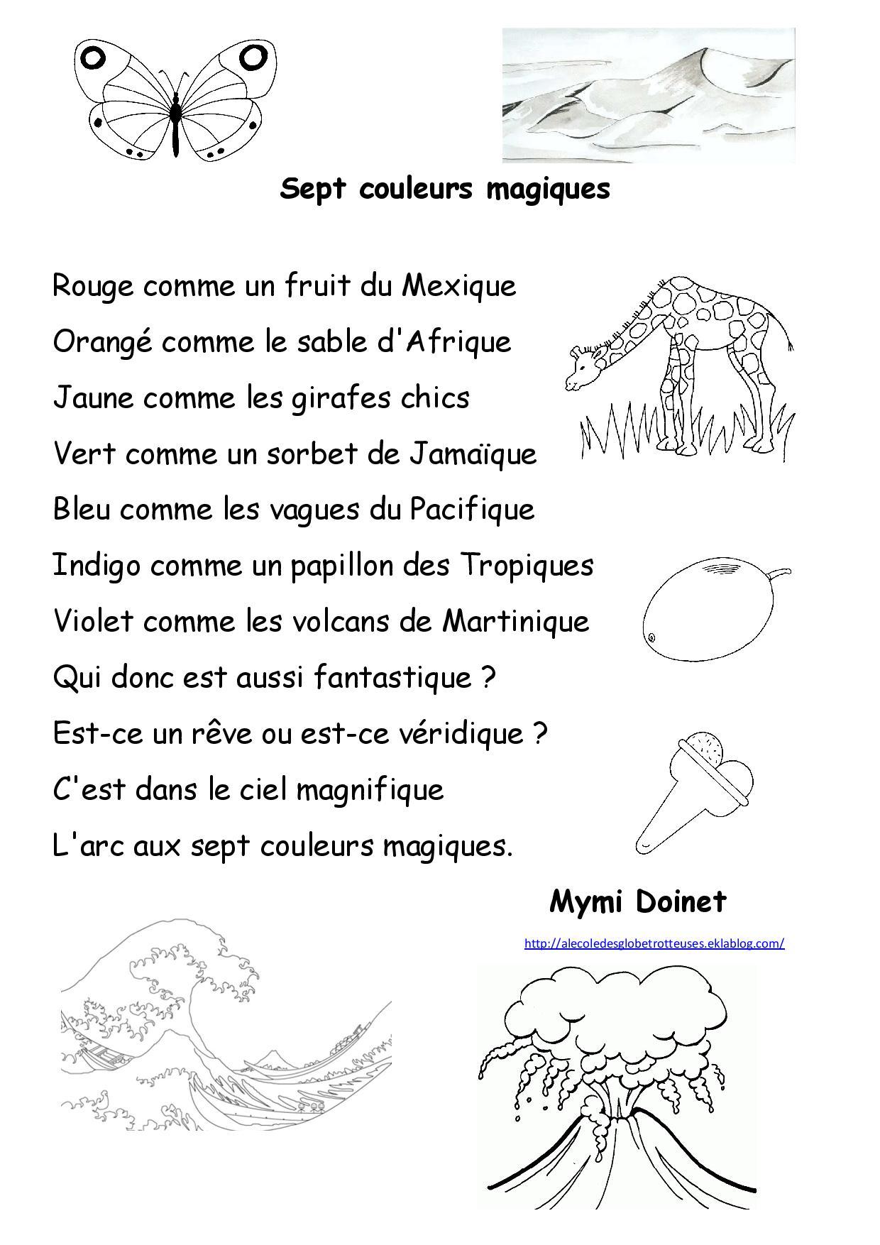 poesie 7 couleurs magiques