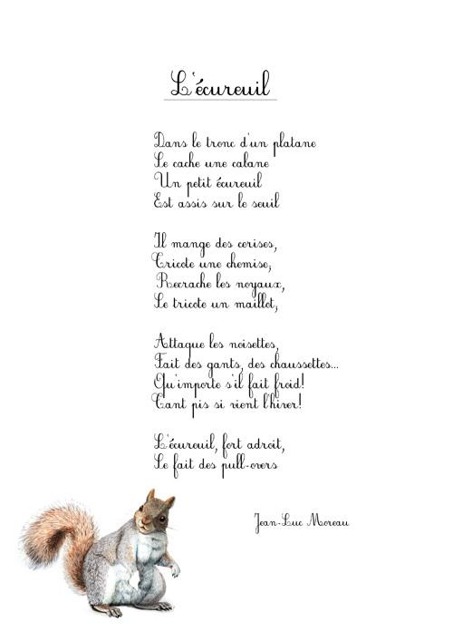 poesie a apprendre