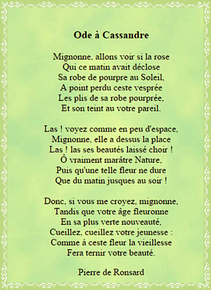 poesie a cassandre