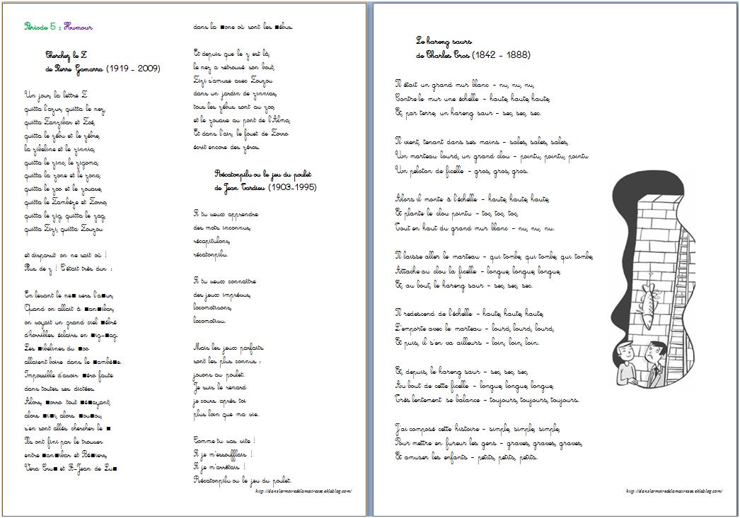 poesie a deux voix ce2