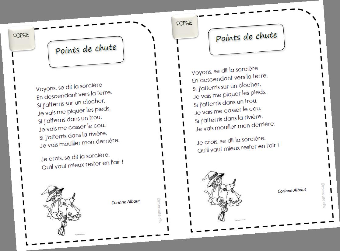 Poesie a l 39 ecole des sorcieres - Le jeux de la sorciere qui fait peur ...