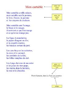poesie a recopier