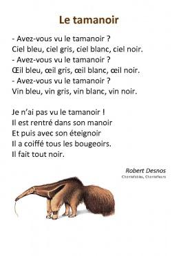 poesie animaux