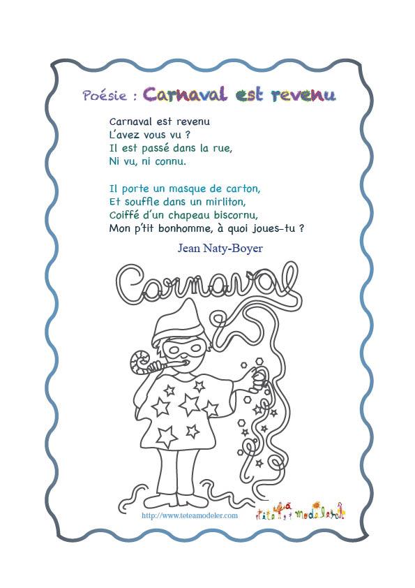 poesie au carnaval