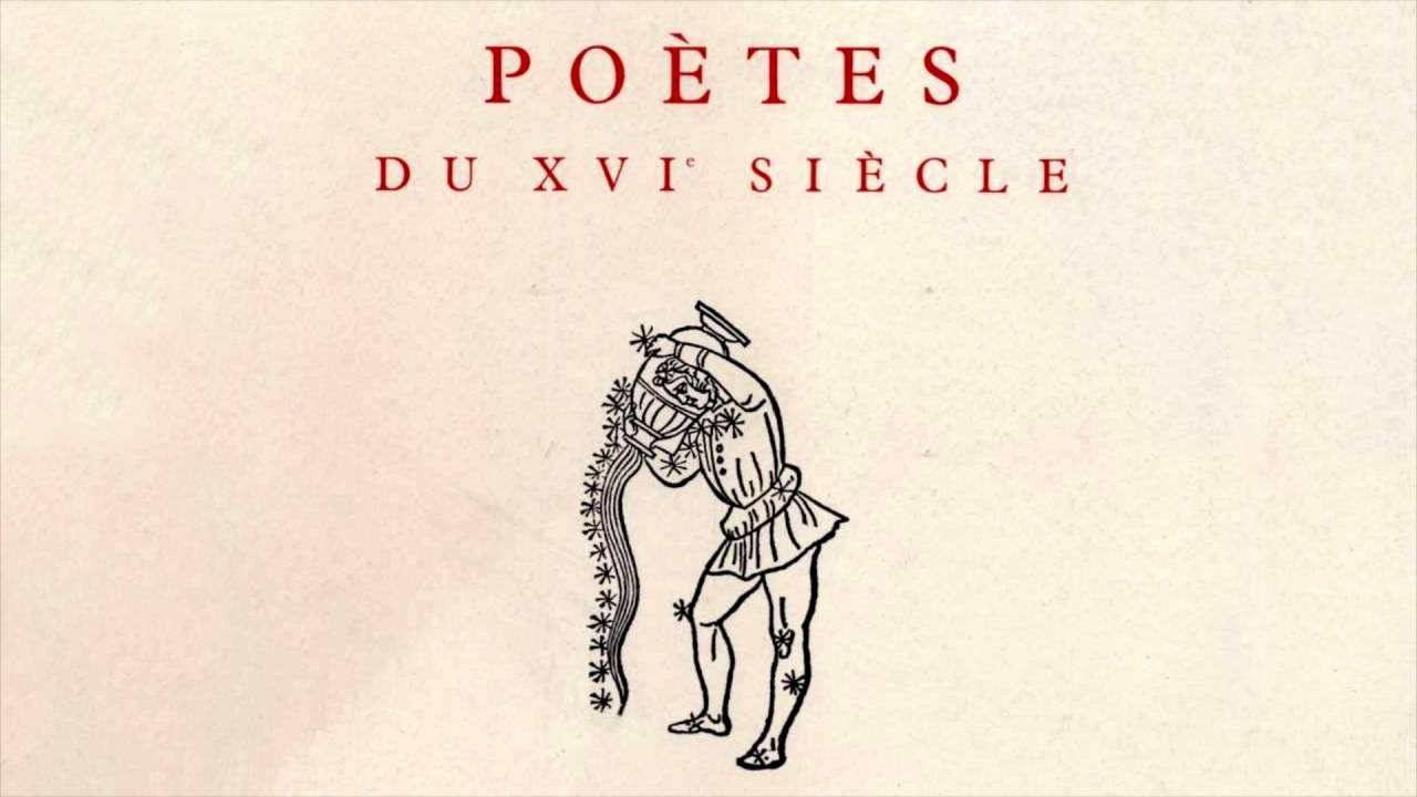 poesie au xvi eme siecle