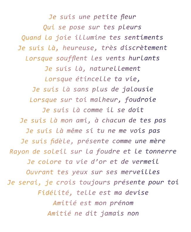 poesie bonjour petite fleur