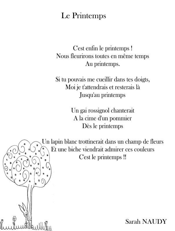 poesie c'est le printemps