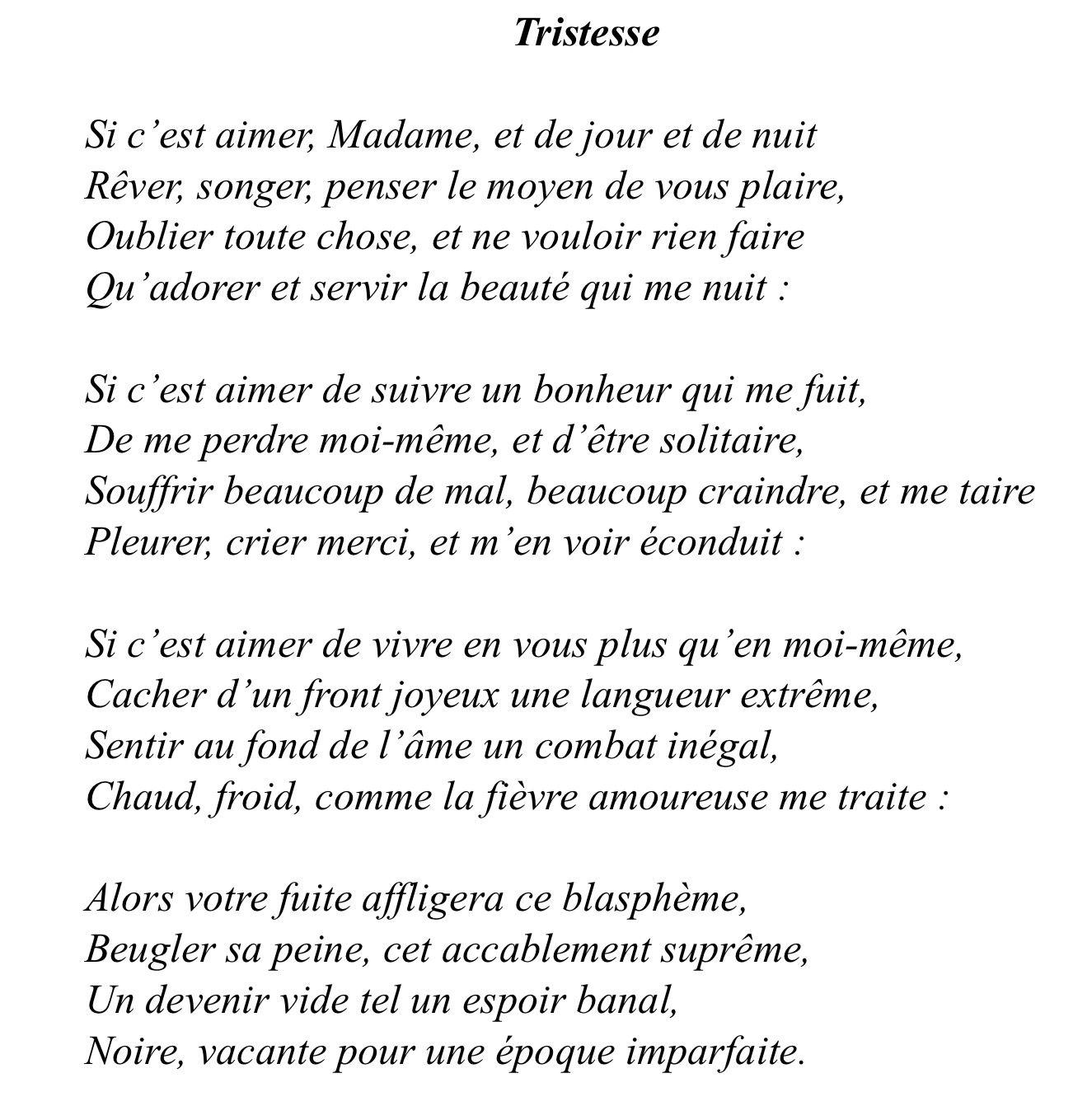 poesie classique