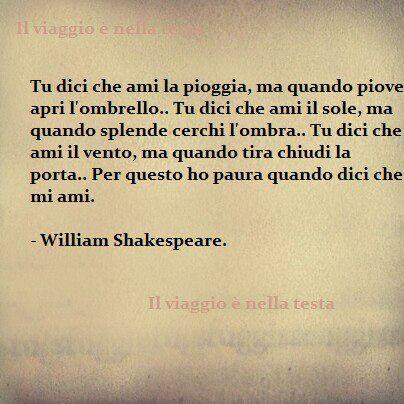 poesie d'amore shakespeare