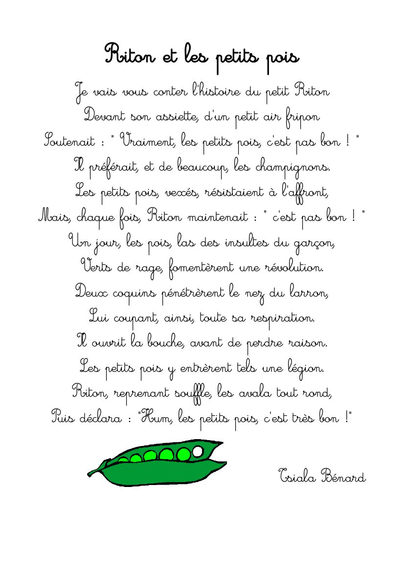 poesie dans mon potager