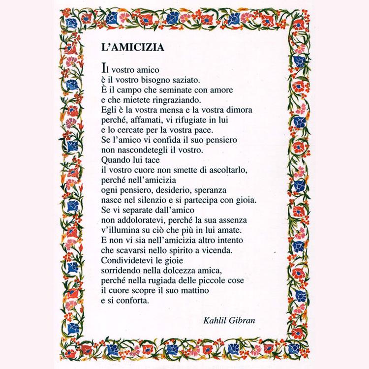 poesie di amicizia