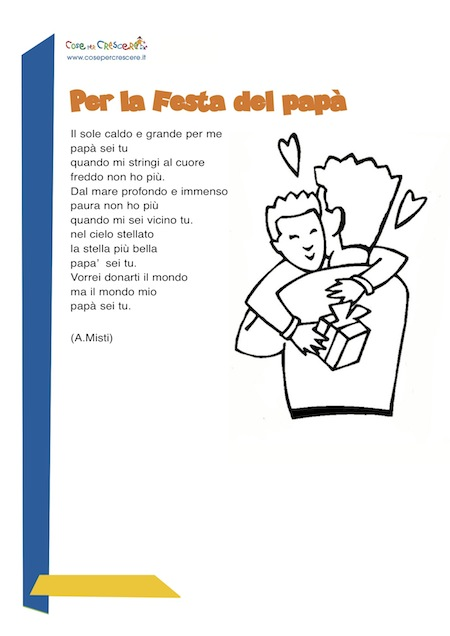 poesie e filastrocche festa del papa scuola primaria