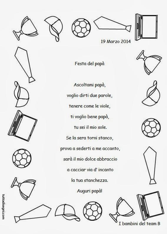 poesie e filastrocche per la festa del papa