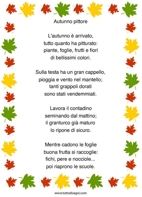 poesie e filastrocche sull'autunno
