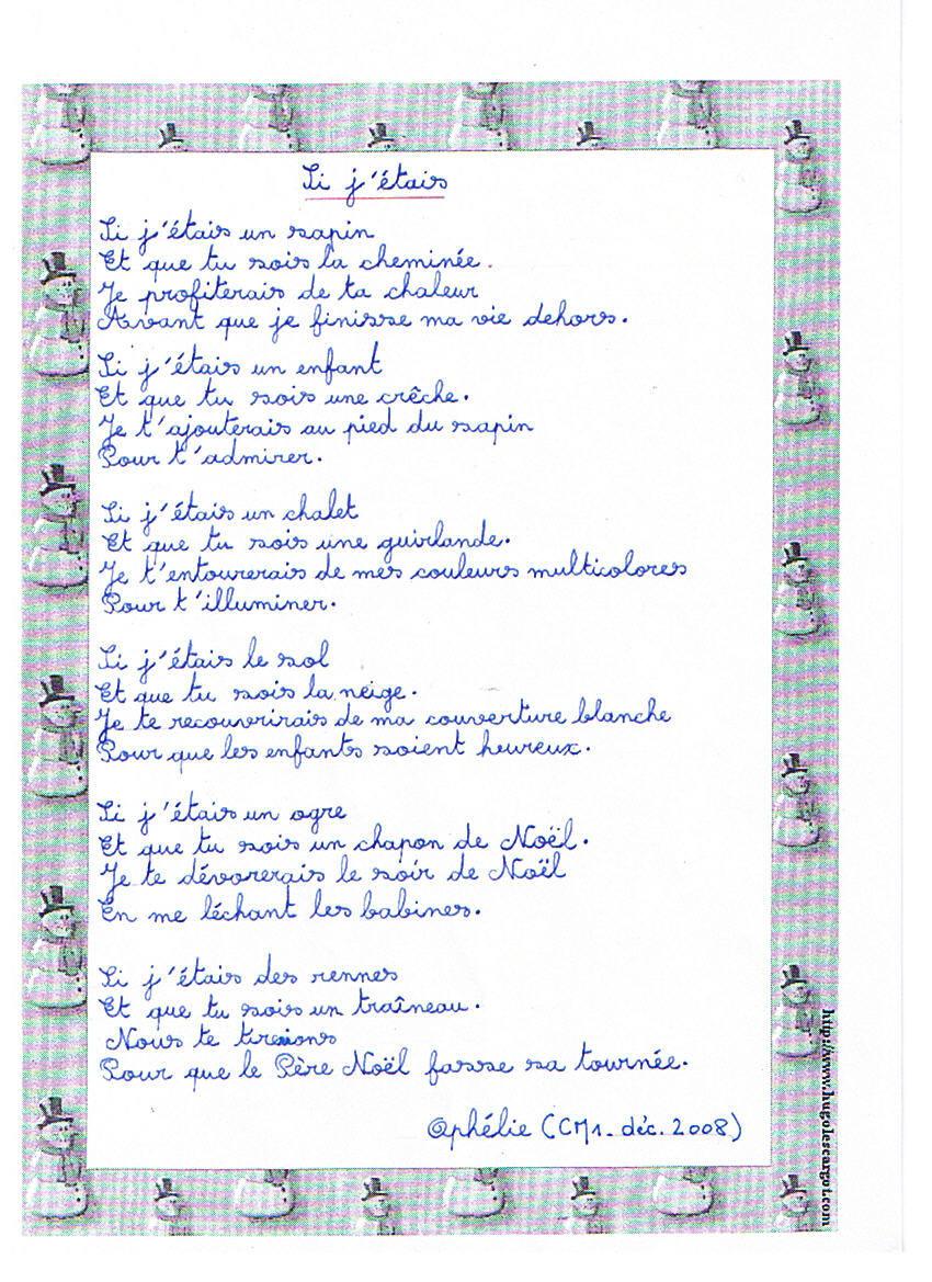 poesie ecole cm1