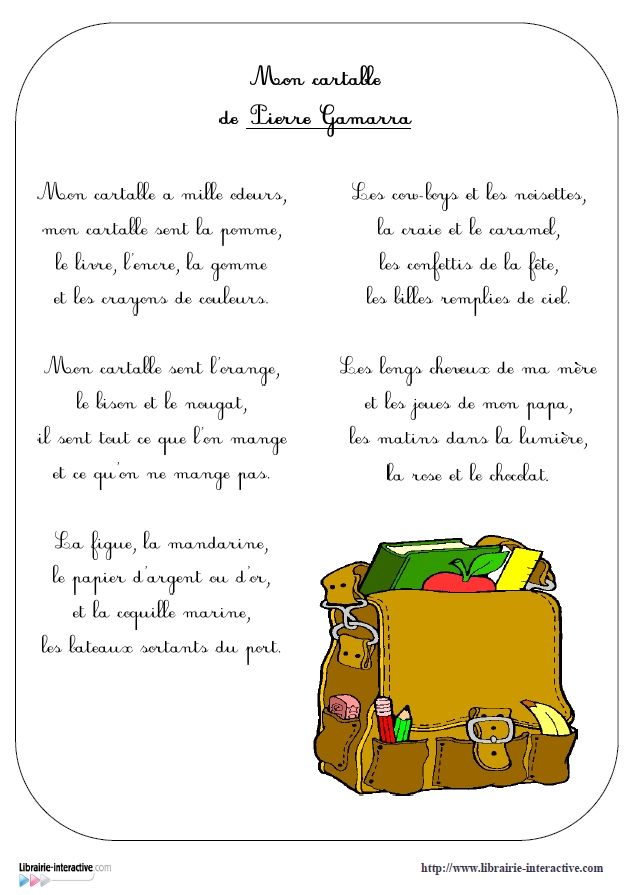 poesie ecole cycle 3