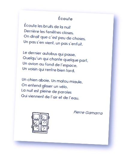 poesie ecoute