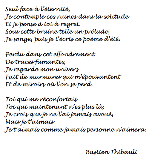 poesie ecrite par des eleves