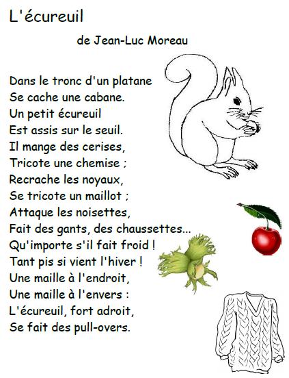 poesie ecureuil
