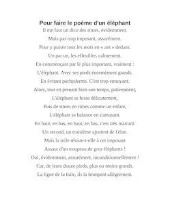 poesie elephant