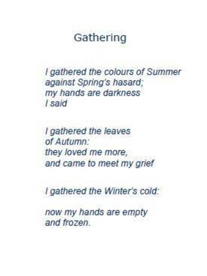 poesie en anglais