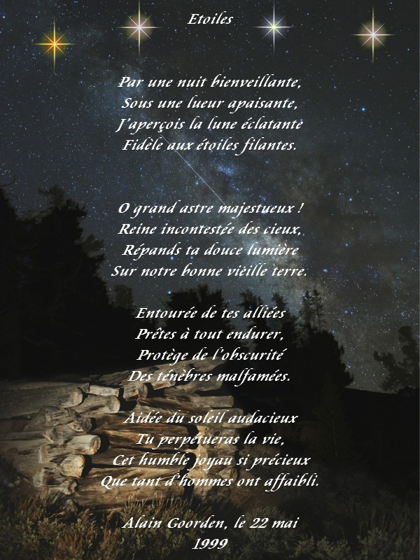 poesie etoile
