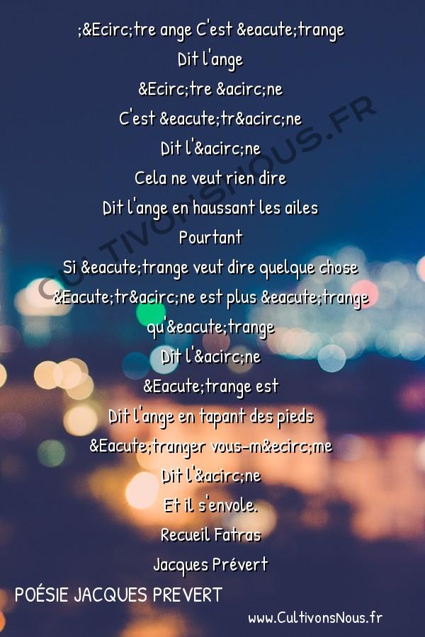 poesie etre ange jacques prevert