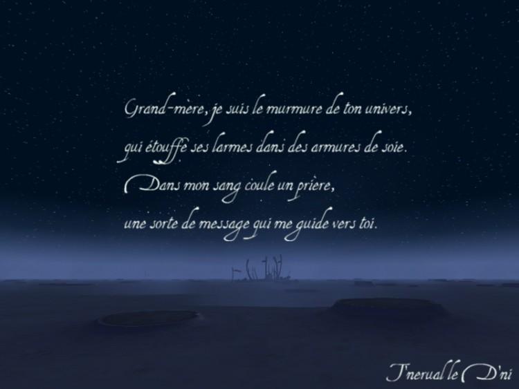 poesie etre grand mere
