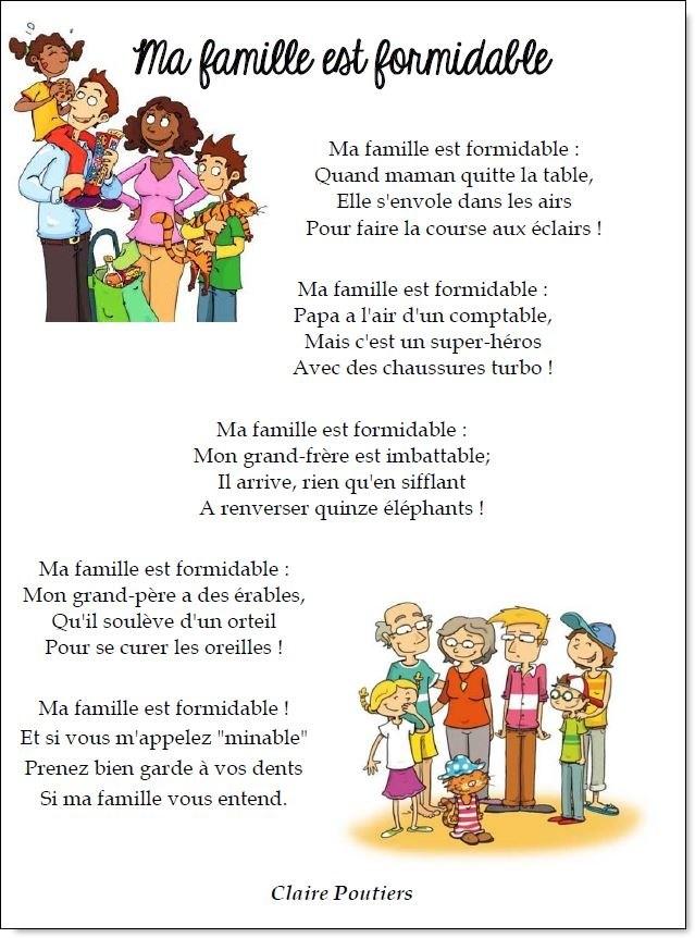 poesie famille