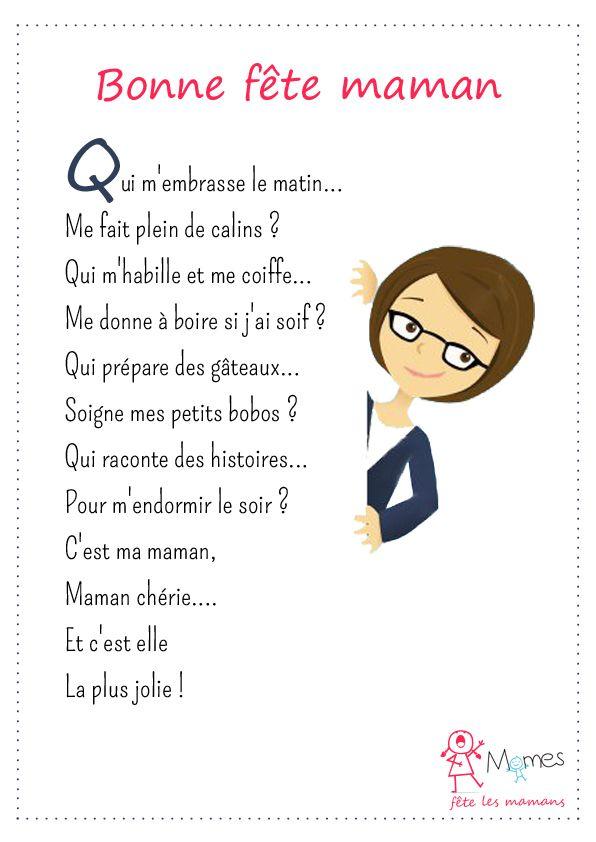 poesie fete des ^meres