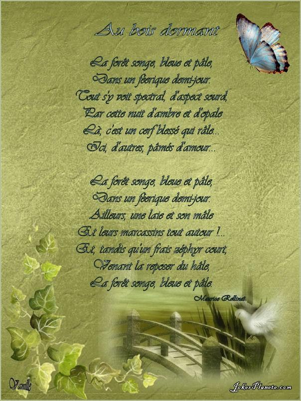 poesie foret