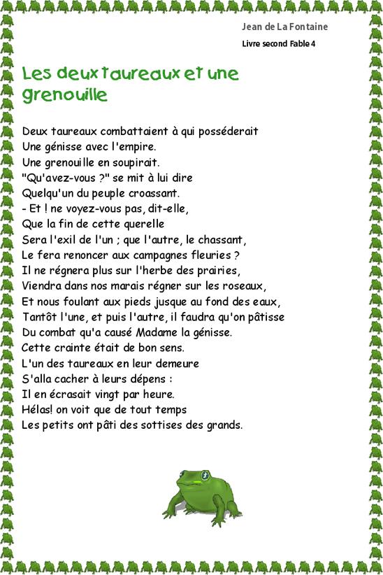 poesie grenouille