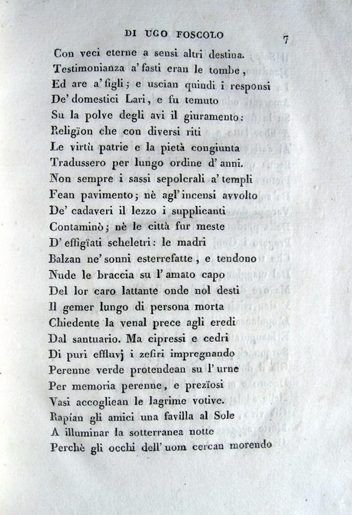 poesie i sepolcri