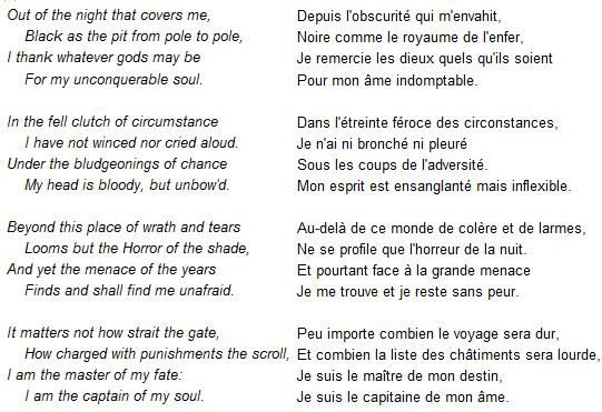poesie invictus