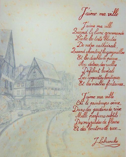 poesie j'aime la ville