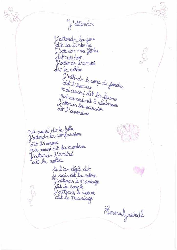 poesie j'attends