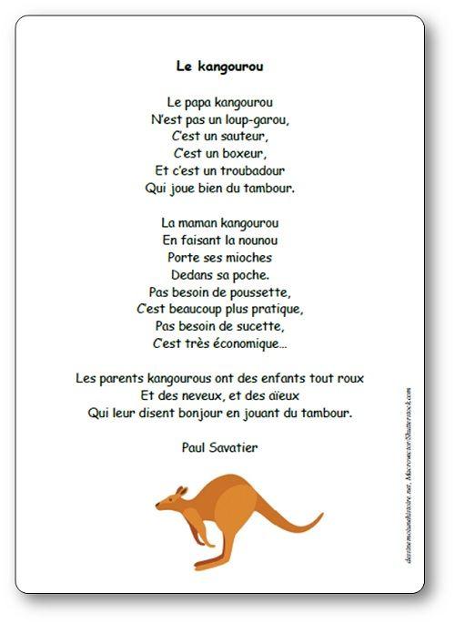 poesie kangourou