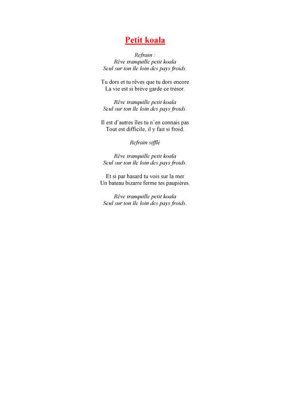 poesie koala