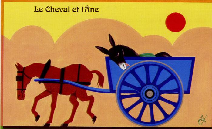 poesie l'ane et le cheval