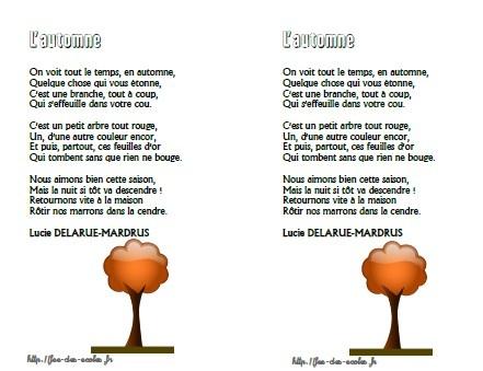 poesie l'automne cm1