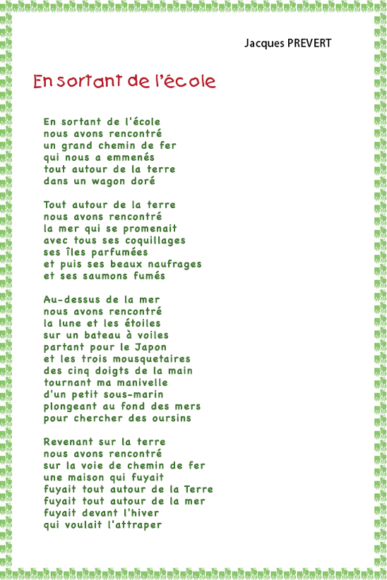 poesie l ecole