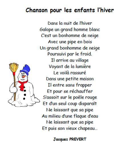 poesie l'hiver