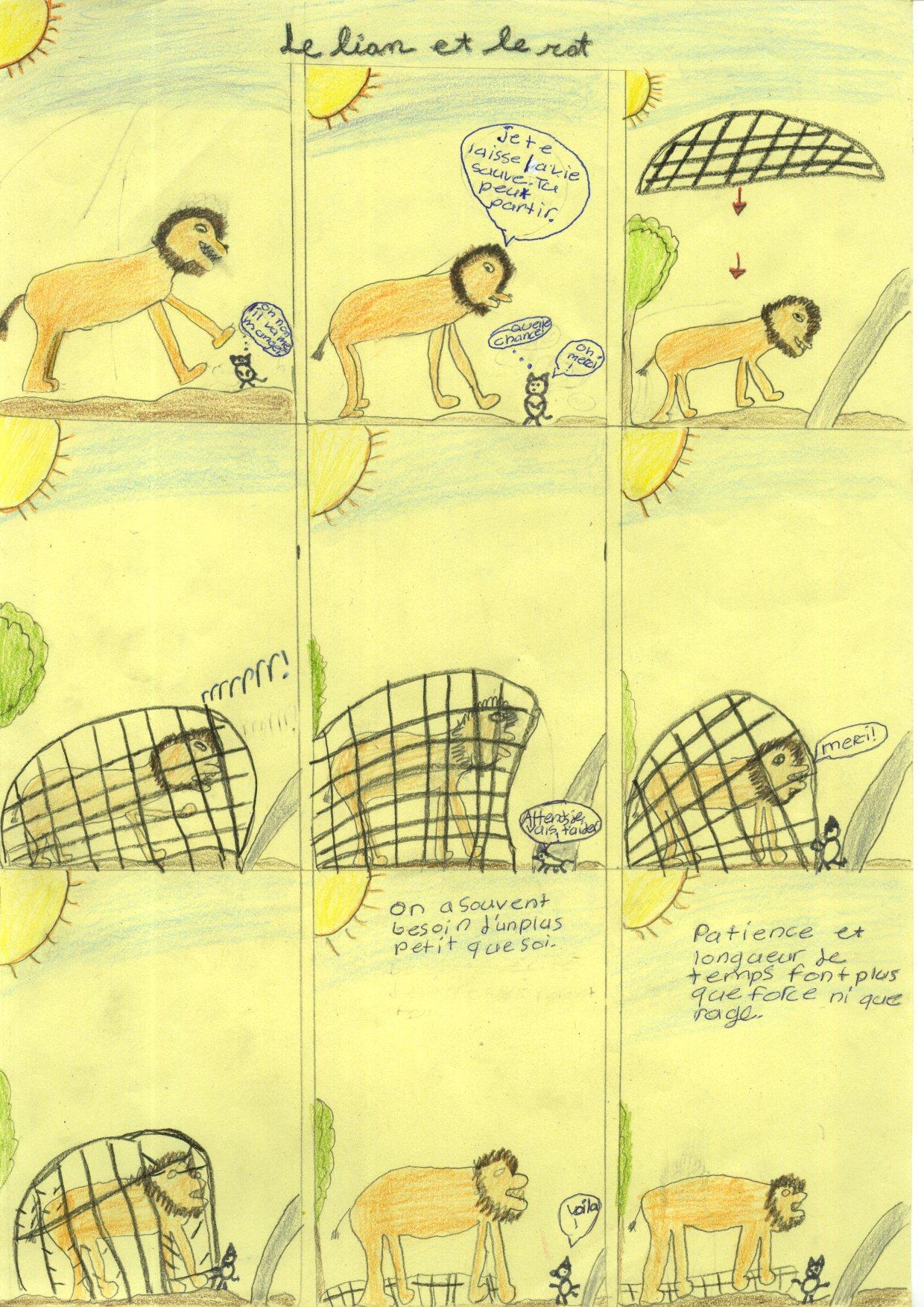 Poesie le lion et le rat - Image le lion et le rat ...