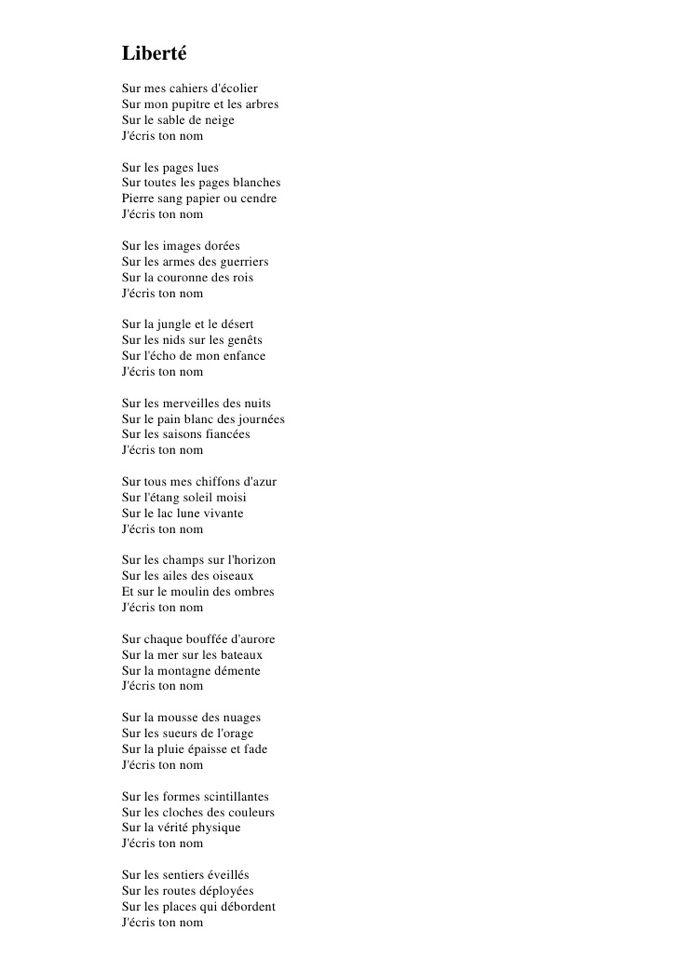 poesie liberte