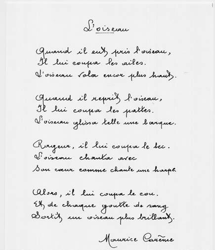 poesie maurice careme