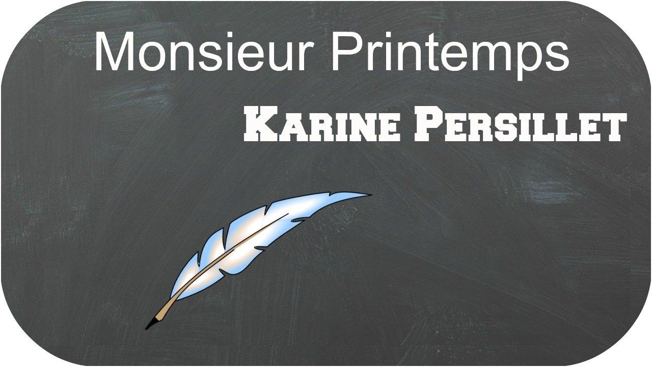 poesie monsieur printemps de karine persillet