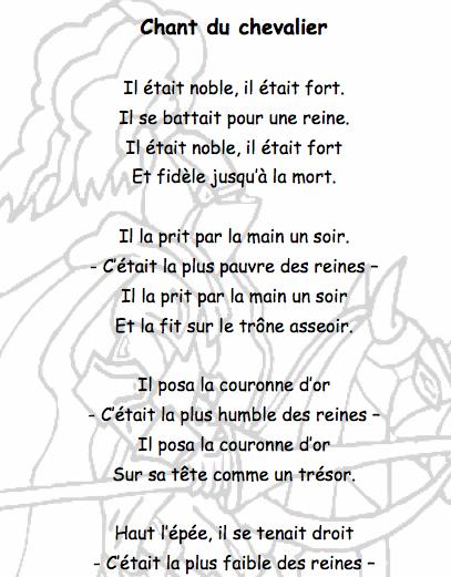 poesie moyen age cycle 2