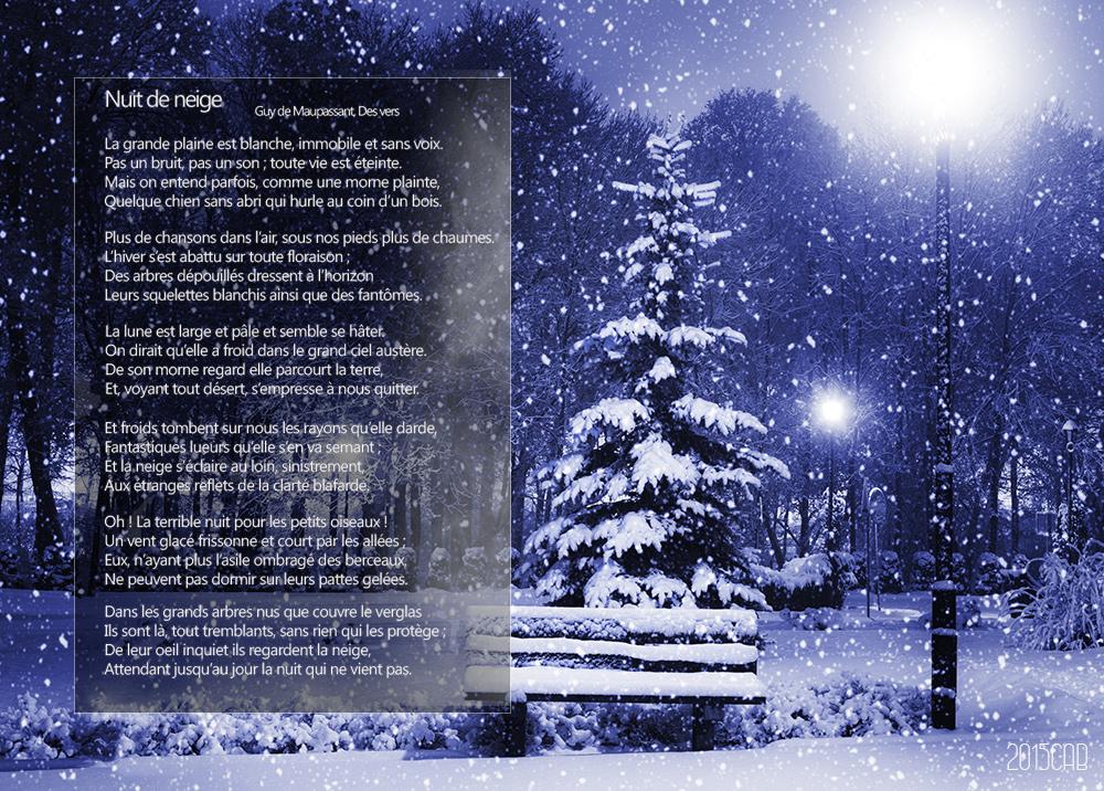 poesie nuit de neige