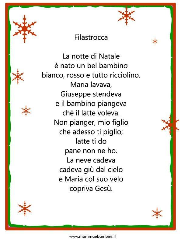 Poesia Natale Rodari.Poesie O Filastrocche Sul Natale